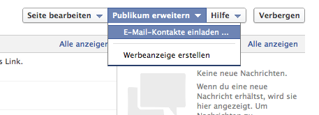Chrome Facebook Admin-Bereich