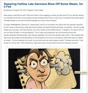 Schimpf-los, die erste Schimpfhotline deutschlands