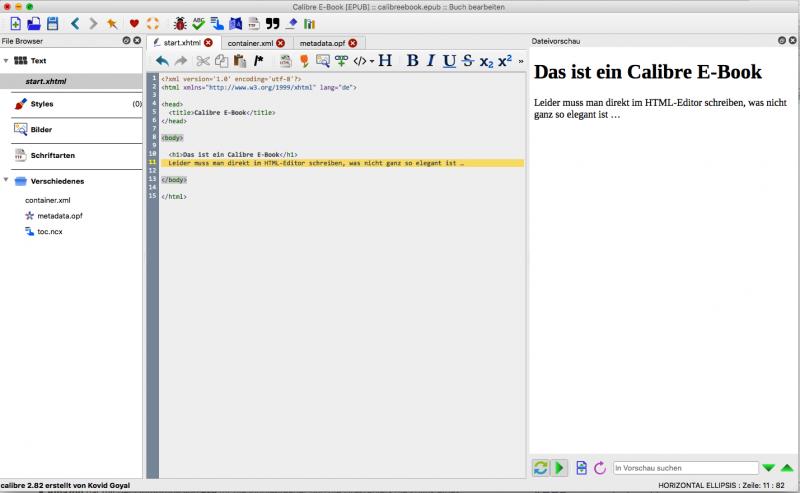eBooks erstellen mit Calibre