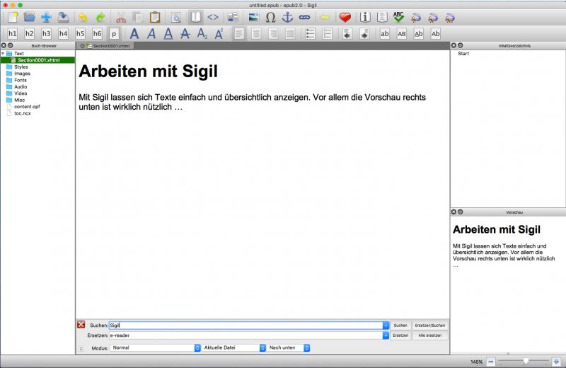 eBooks erstellen mit Sigil
