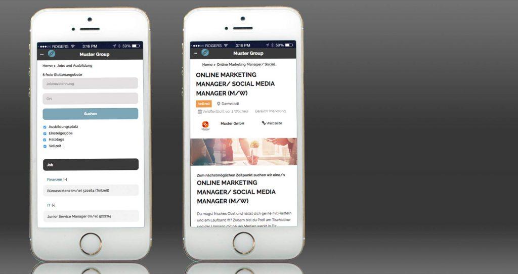 Karriereseite gestalten für Unternehmen - mobil und responsive