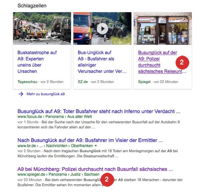 Spiegel: Google Suche